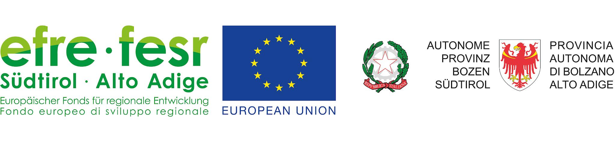 Logo ERDF programme South Tyrol